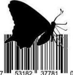 UPC Barcode Art Butterfly
