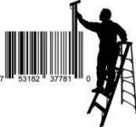 Universal Product Code Art - Painter on Ladder