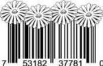 Universal Product Code Art - UPC Barcode Flowers