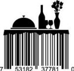 Universal Product Code Art - UPC Barcode Dinner Table
