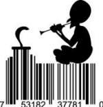 Universal Product Code Art - UPC Barcode Snake Charmer