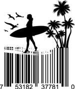 Universal Product Code Art - UPC Barcode Surfer