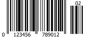 EAN Barcode with 2 digit extension