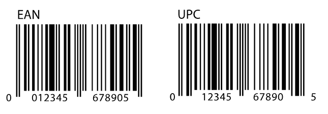 UPC Barcode and EAN Barcode graphics