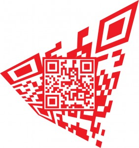 Scannable QR Code with background art